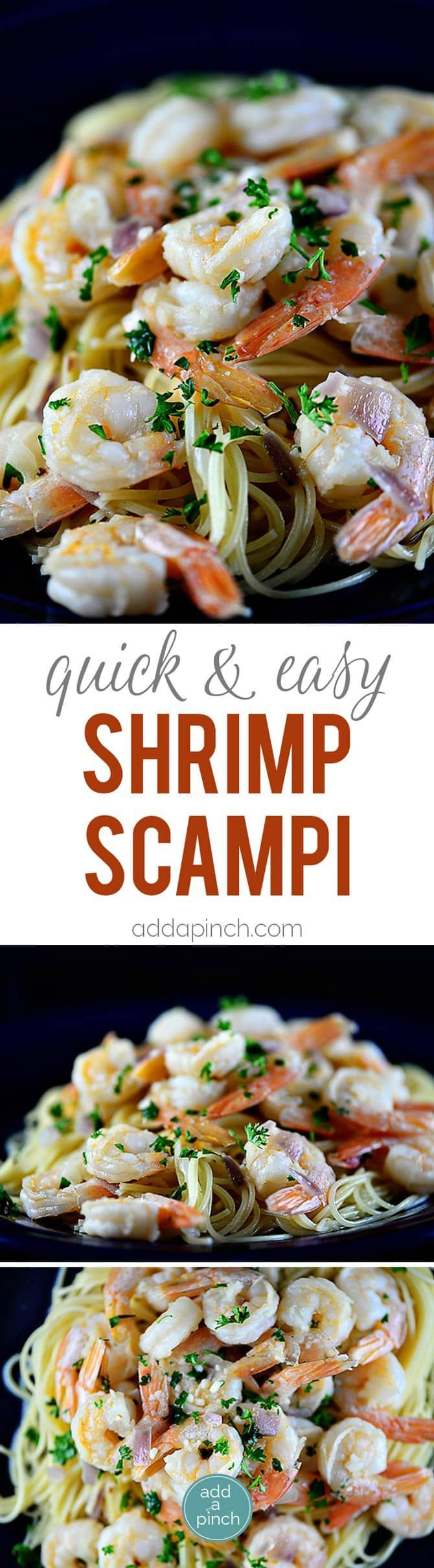 Shrimp scampi is easy and elegant, perfect for entertaining. Made of shrimp sautéed in butter and olive oil, garlic, and gently tossed with red onion and parsley, it is a classic. // addapinch.com (garlic noodles recipe shrimp)