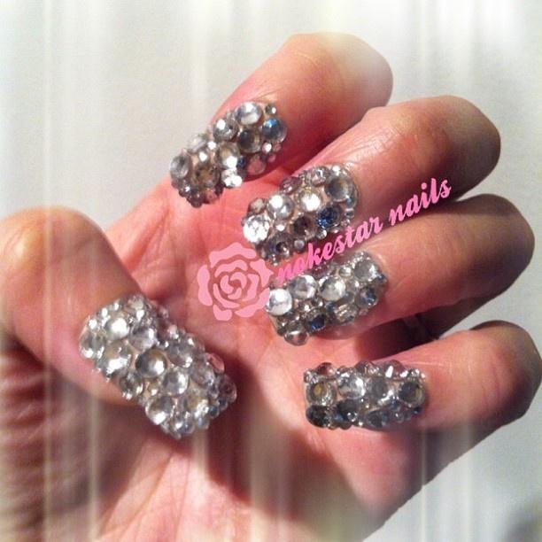 My wedding day #swarovskinails !. #weddingnails #nails #nailswag #bling #nailart #love #barbiefingers #mani #notd #instagood #instanails #Padgram