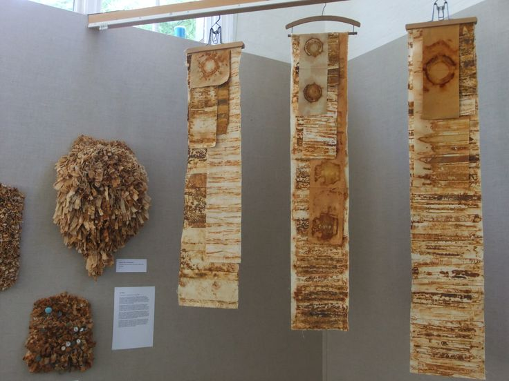 rust dyed hung cloth - exhibited at 'Collaborate', a mixed media exhibition by Canvass in 2013