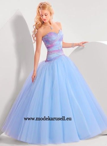 Ballkleid Abendkleid in Blau