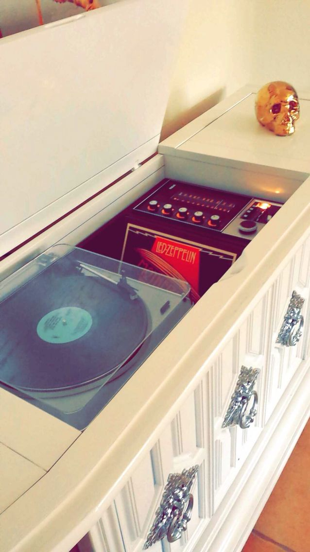 Record player, vintage, records, refinished, stereo console, RCA