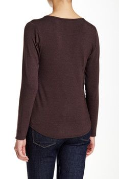 Heather by Bordeaux Lace-Up Tee (Petite)