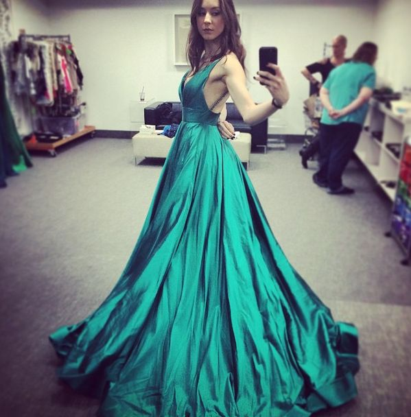 Troian looks stunning in this dress. | Pretty Little Liars