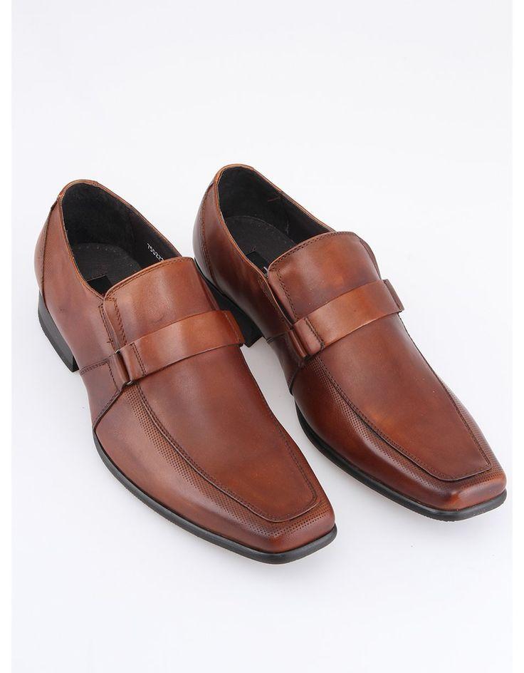 Dice - Hnědé kožené boty  Carl - 1