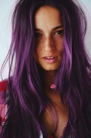 braune haare mit lila stich - Google-Suche                                                                                                                                                      Mehr