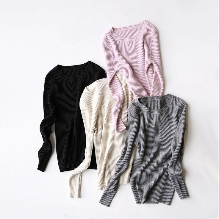 Yeeshan Suéter de Lana Otoño O-cuello de la Ropa Interior de Algodón Mangas Llenas de Las Mujeres Suéteres y Jerseys Sólido Elegante Mujer Sueters
