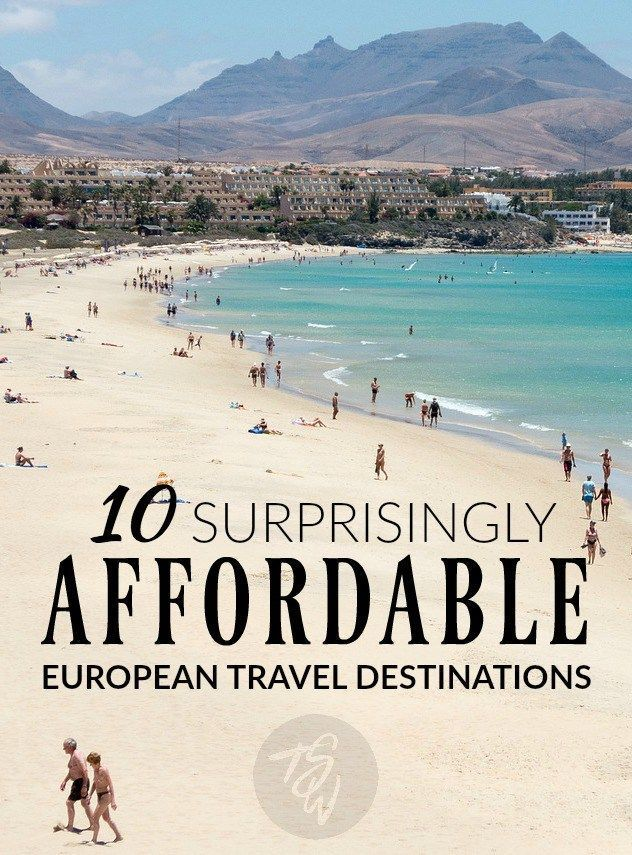 Looking for an inexpensive European getaway? Think outside the box and head to one of these affordable destinations! #europe #budgettravel #traveleurope