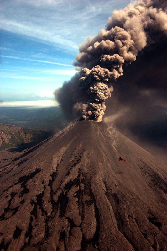 Volcano on the Kamchatka Peninsula, #Russia.