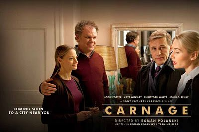 《Carnage》  What a great movie!  A small thing occurred between children causing the adults dialectic in the self-centered way. The process embodies the contradictions of the adult world.