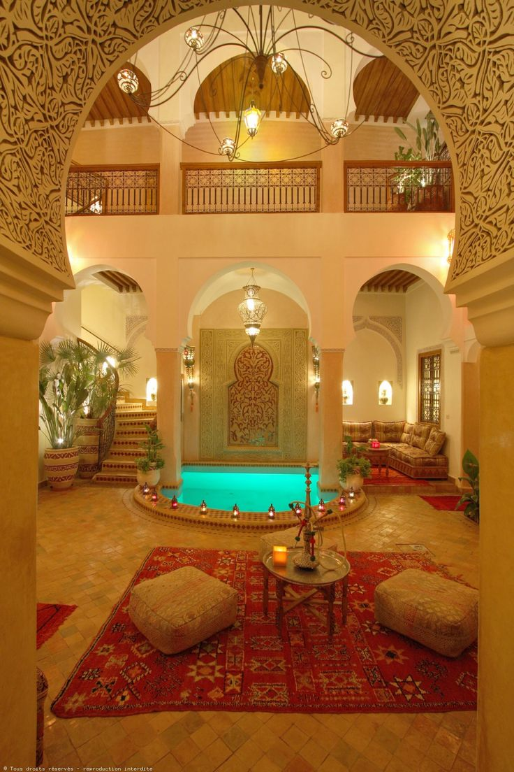 Magical atmosphere in this beautiful Riad... Morocco