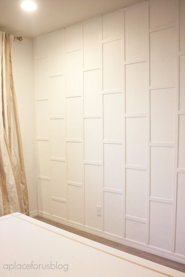 Entry way wall? Simple, clean and interesting. Hang some art or a mirror and it'd be very welcoming! Maybe in a slightly different color. But I really like the white.