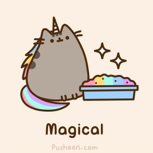 Pusheenicorn! (I wish my cats pooped magical rainbows). Pusheen.com