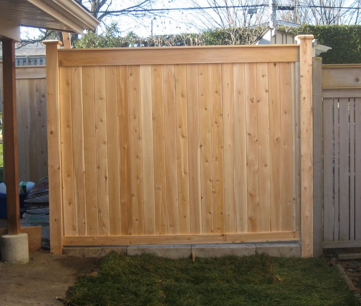 8 best privacy fence images on pinterest backyard ideas for Wood privacy fence ideas