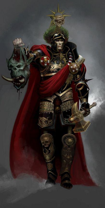 Karl Franz, also titled Karl-Franz or Karl Franz I, Protector of the Empire, Defier of the Dark...