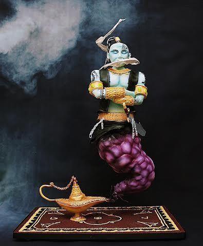 Djinn (genie)  - gravity defying cake                                                                                                                                                                                 More