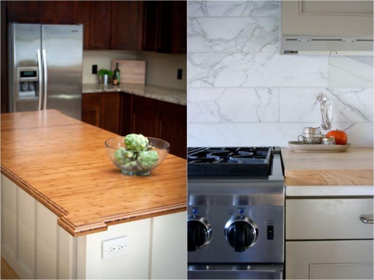 Wood worktops make the modern kitchen cozy