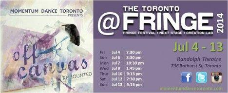 Momentum Dance Toronto Presents: Off Canvas - Remounted @ Fringe July 4