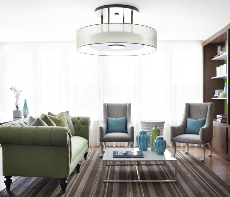 Minimalist Living Room Design Idea with Carpet Area and Green Lime Sofa  Completed also Cute Green - 343 Best Images About Living Room On Pinterest Living Room