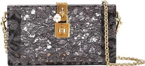 Dolce & Gabbana Dolce box clutch women Lurex/Plexiglass One Size, Women's, Grey. Refined silhouettes and delicate detailing define Dolce & Gabbana's elegant evening accessories.#lace #lovelace #fashionforwomen #women #trend #occasionwear #womenfashion #stylish #luxury #luxuryfashion
