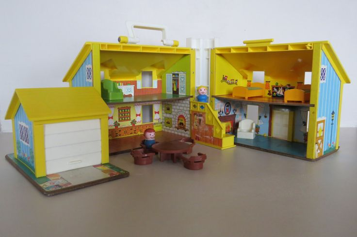 Familly House Fisher Price 1969, Maison de famille des Little People avec personnage Fisher Price, little people, jouet fisher price, de la boutique RecreVintage sur Etsy