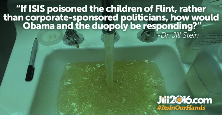 Dr. Jill Stein, Green presidential candidate and expert on child developmental health, called for MI Gov. Snyder and EPA director McCarthy to be removed from office and face any appropriate charges for their roles in the Flint water crisis that has poisoned thousands of people.
