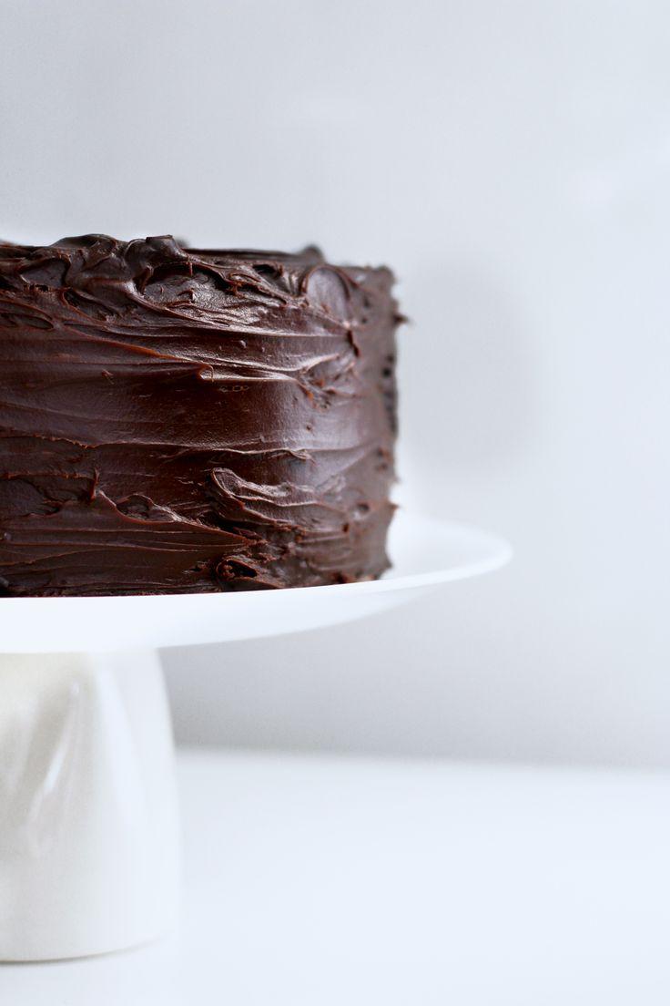 3 layer chocOlate cake with chocolate ganache