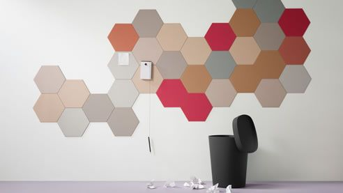 linoleum hexagaonal bulletin board Fun news/bulletin board