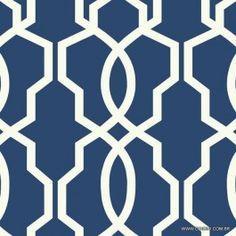 Papel de parede Decoração Geométrico Origini 204-51, importado, lavável, Azul marinho com Branco