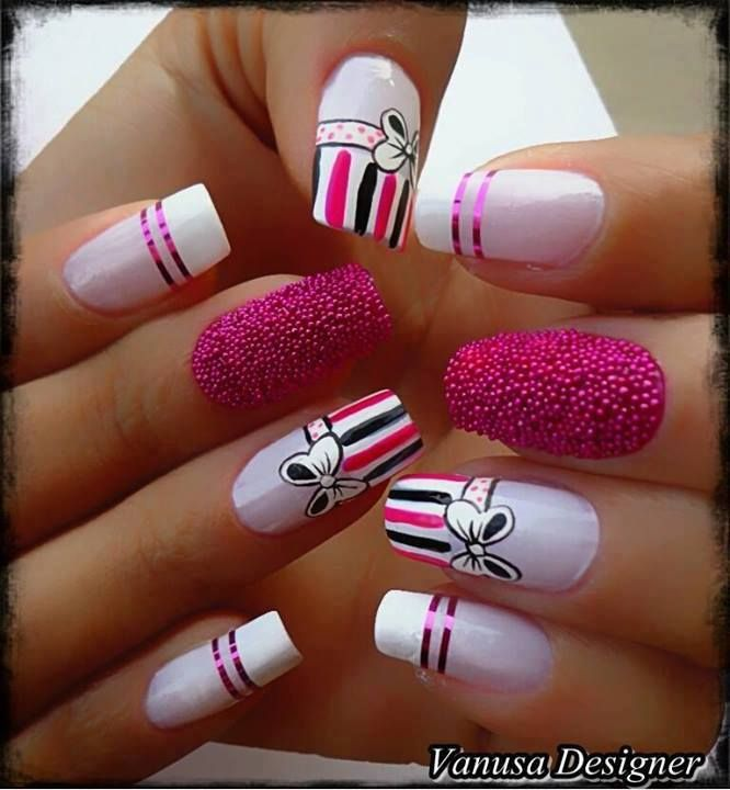 U as decoradas u as fucsia nailart pink u as bonitas pink fucsia pinterest las - Unas bonitas decoradas ...