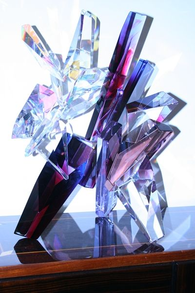 "GlassMaster Grant Miller glass sculpture. One of a kind. Artist signed and approximately 27.5"" x 28.0"" x 18.0""."
