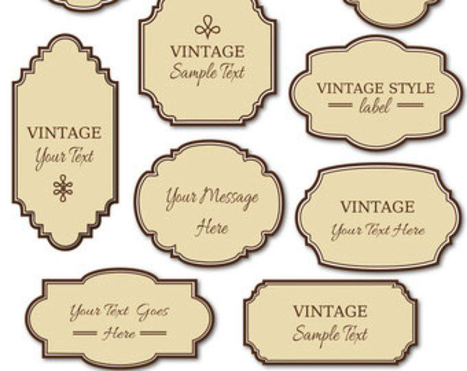 Vintage Labels Clip Art Digital Frames Png Vector Etsy Soap Labels Vintage Labels Clip Art Vintage