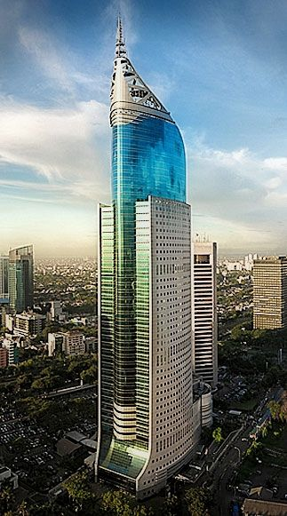 ARCHITECTURE - Wisma 46 or BNI City Tower, Jakarta, Indonesia by DP Architects and Zeidler Partnership Architects :: 46 floors, height 261m