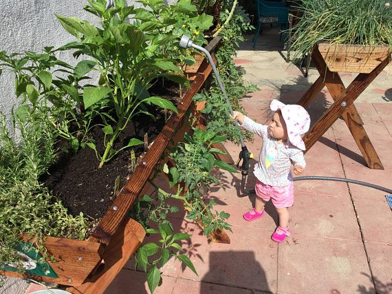 4' Urban Farmer Redwood Garden Planter grows 20 plants Herbs,Vegetables,Flowers, with the Reclaimed water Conservation System* Free Ship*