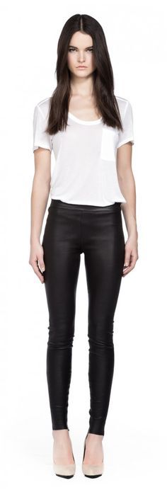 Navi Stretch leather pants by Mackage