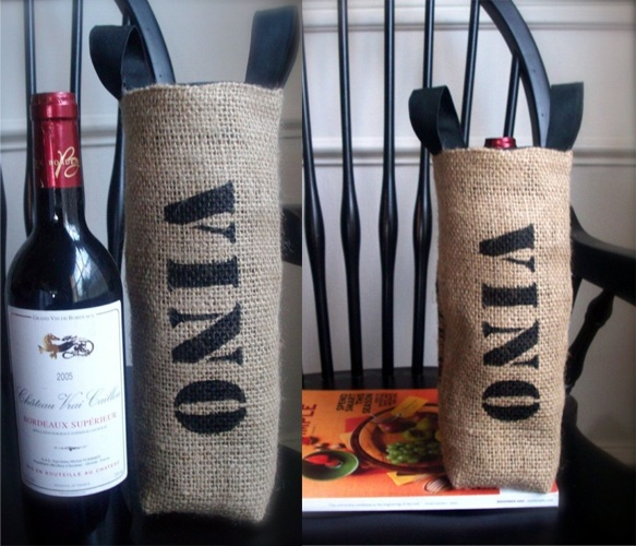Coffee Sack Wine Basket: Wine Baskets, Gifts Baskets, Gifts Bags, Coffee Sacks, Bridal Shower Ideas, Sacks Wine, Wine Bottle, Wine Bags, Wine Gifts