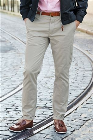 Buy Belted Chinos from the Next UK online shop