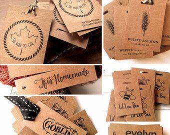 50 Custom Hang Tags  Custom Kraft Tags  Kraft Labels Hang