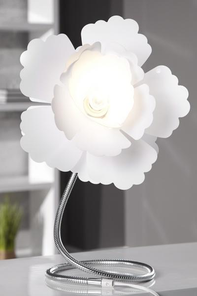 Best Extravagante Tischleuchte FLORCITA weiss Lampe bei Riess Ambiente