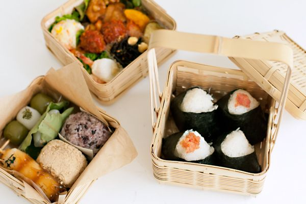 a traditional bento arrangement from the Kitano-based Triton Café