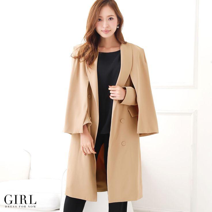 GIRL マント付きチェスターコート ●価格 18,349円(税込)●サイズ:S/M/L ●カラー:キャメル/ブラック