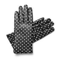 Polka dot leather gloves. Puantiyeli deri eldiven. #eldiven #siyah beyaz #deri
