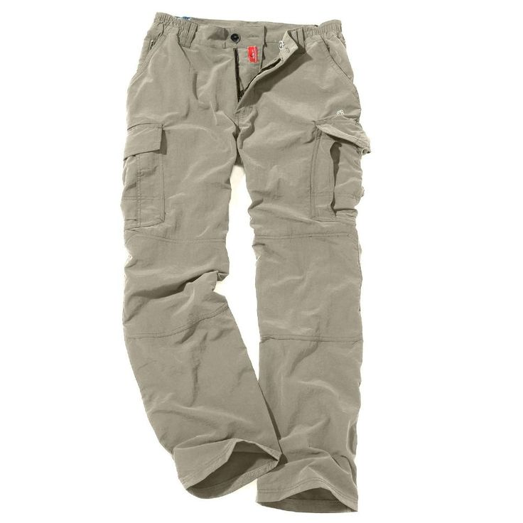 Craghoppers Pebble Nosilife Cargo Trousers Lightweight comfortable and technical the permanently sun-protective and insect-repellent NosiLife