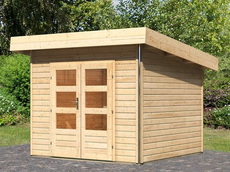 Einfache Montage • Made in Germany • Wandstärke: 40 mm ✓ Holz-Gartenhaus Höje 1 Natur 259 cm x 259 cm ➜ Holz-Gartenhäuser bei OBI kaufen und bestellen