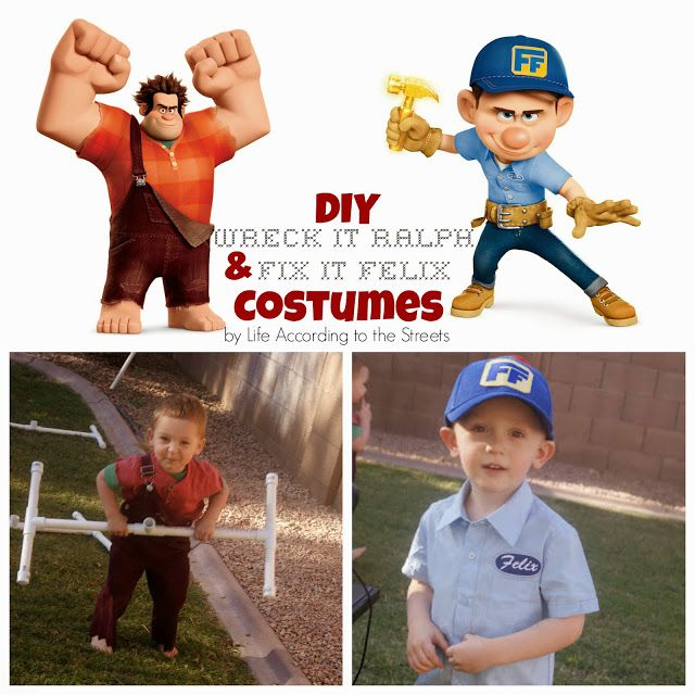 Life According to the Street's: [Mrs. DIY] Wreck it Ralph and Fix It Felix Costumes