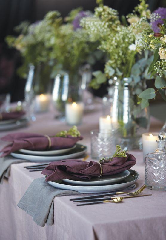 A.U Maison AW17. #aumaison #interior #homedecor #styling #danishdesign #dinnertable #tablesetting #scandinavian #flowerarrangement #linen #table #tablecloth #tablearrangement #summer #ceramics #tableware #napkin