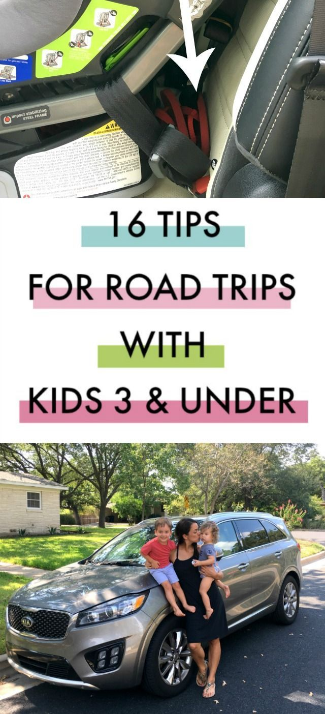 16 Road trip tips for preschoolers and toddlers--#14 is genius!