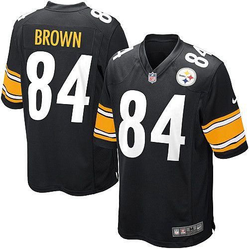 Nike Pittsburgh Steelers Youth #84 Antonio Brown Limited Black Home NFL Jersey