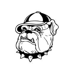Dogge mit Hut