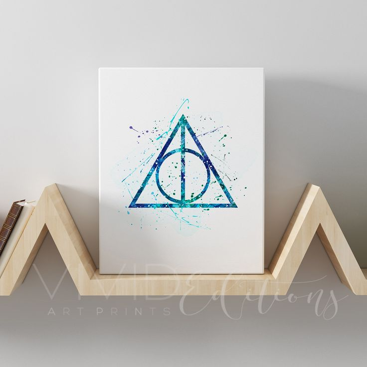 Deathly Hallows, Harry Potter Gallery Wrapped Canvas
