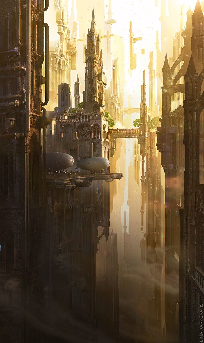 Gothic future, Lina Karpova on ArtStation at https://www.artstation.com/artwork/gothic-future